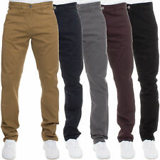 Mens STRAIGHT FIT Designer Casual Trousers Chinos regular Jeans All Waist Sizes