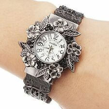 Vintage Flowers Bracelet Watches Women Watches Full Steel Watch Ladies Watch New