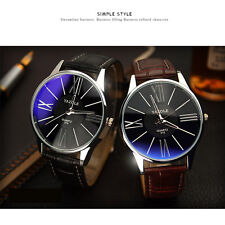 Mens Luxury Business Watches Stainless Steel Leather Band Man Quartz Wrist Watch