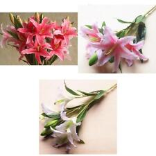 Artificial 6-Head Silk Flowers Lily Plant Wedding Party DIY Decoration 3 Colors