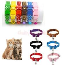 30cm Adjustable Cat Collar Puppy Dog Kitten Safety Buckle Neck Strap with Bell