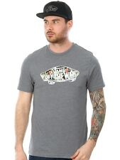 Vans Heather Grey-Black Decay Palm Off The Wall Logo Fill T-Shirt