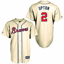 Majestic BJ Upton Atlanta Braves Cream Alternate Old Replica Player Jersey