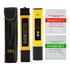 3in1 TDS EC TEMP PPM Tester pH Meter Pen LCD Digital Water Quality Purity Stick