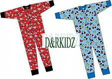 CHARACTER ONESIE GIRLS BOYS DISNEY ALL IN ONE SLEEPSUITS MICKEY/MINNIE MOUSE