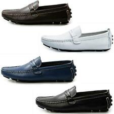 Mens Casual Leather Comfy Slip On Loafers Elite Driving Moccasin Boat Shoes