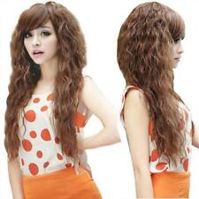 Fashion Hot Party Long Wavy Hair Wigs Cosplay Sexy Womens Full Curly 3 Colors
