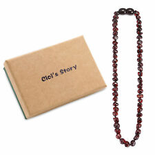 Best Baltic Teething Necklace for Baby (Cherry) - 3 Sizes - Gift Box