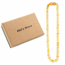 Baltic Teething Necklace for Baby (Lemon) - 3 Sizes - Gift Box