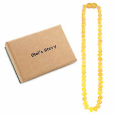 Baltic Teething Necklace for Baby (Butterscotch) - 3 Sizes - Gift Box