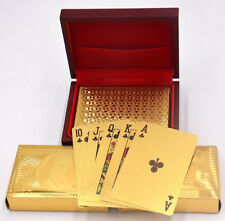 Cards Gold Playing Foil Poker Deck New Plated Box High Grid Pattern Grade Party