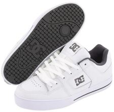 DC Pure White Grey Leather Mens Skate Trainers Shoes Boots