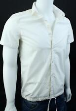 Armani Exchange A|X Mens Button Front Fitted Casual Short Sleeve Shirt White NWT