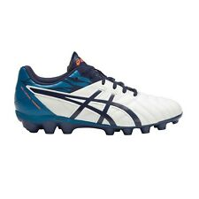 Asics Lethal Tigreor-9 IT JUNIOR FOOTBALL BOOTS,WHITE/BLUE/ORANGE-US 1,2, 3 Or 4