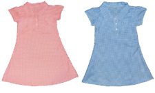Girls Blue and Red Gingham School summer dresses 3-12 Years
