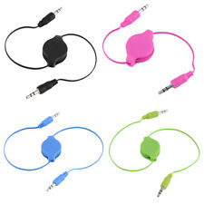 3.5mm Male to Male Aux Auxiliary Retractable Stereo Jack Audio Cable Cord AU