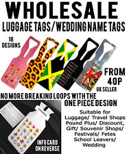 WHOLESALE LUGGAGE NAME ID TAG TAGS TRAVEL HOLIDAY CARD HOLDER TRAVEL ONE LOOP