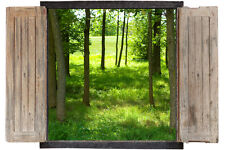 Wall Sticker Window 3D Decal Vinyl The beautiful Mural Forest TREES room decor h