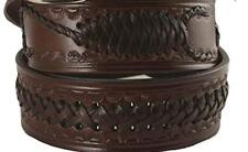Solid Leather Belt Western Southwest Cowboy Braids Tooled Scorpion Oil Tanned