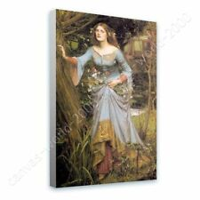 READY TO HANG CANVAS Ophelia Waterhouse Giclee Framed Art Oil Painting Print