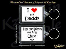I Love my Daddy Personalised Keyring Birthday Fathers Day  Gift