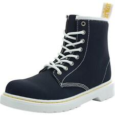 Dr Martens Delaney Junior Navy Textile Ankle Boots