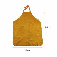 Welders Welding Apron Full Length Chrome Leather Blacksmiths Glaziers Apron Bib