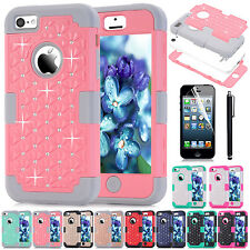 For Apple iPhone 5C/5s/SE/6/6S /Touch 5Heavy Duty Hybrid Rugged Hard Case Cover
