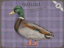MALLARD DUCK SHOOTING COUNTRYSIDE VINTAGE STYLE TIN SIGN METAL WALL PLAQUE 894