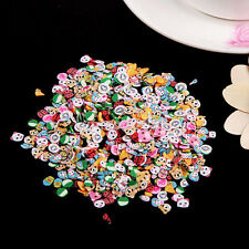 Fashion 1000x3D Mix Tiny Fimo Nail Art Polymer Clay Slices Nail Tips US
