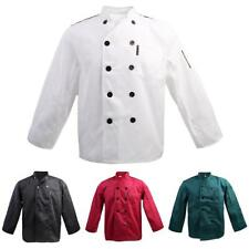 Comfort Long Sleeve Chef Jacket Coat Uniform for Men Women Double-Breasted