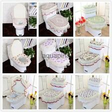3Pc/set Floral Toilet Seat Cover +Toilet Lid Cover +Tank Lid Cover Bath 8 Types