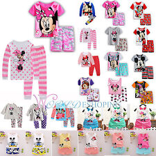 Kids Mickey Minnie Mouse Clothes 2pcs Boys Girls Casual Outfits Pajama Sleepwear