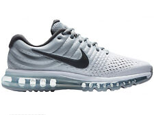 NEW MENS NIKE AIR MAX 2017 RUNNING SHOES TRAINERS WHITE / DARK GREY / WOLF GREY