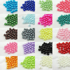Multi-Color Acrylic Round Pearl Spacer Loose Beads DIY Craft Jewellery Making