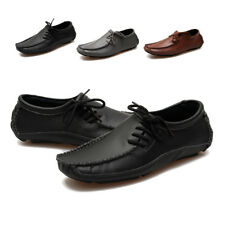 Men Moccasin Driving Boat Shoes Summer Soft Casual Leather Loafers Slip On