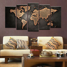 Large World Map Modern Abstract Wall Art Painting Pictures Printed On Canvas