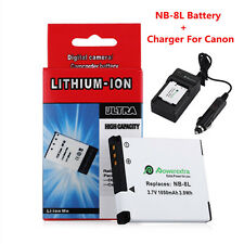 1050mAh NB-8L Battery + Charger For Canon PowerShot A3000 A3100 A3200 A3300 IS