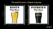 Beer Lager Guinness Personalised Drinks Coaster Novelty Birthday Xmas Gift