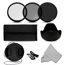 Neutral Density Filter Kit ND2+ND4+ND8+Filter Bag+cloth for Canon Nikon Camera