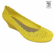 RABEN RABEN Ladies Plastic Jelly Casual Shoe_Wedge Two Yellow