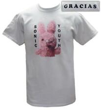Sonic Youth- Dirty Bunny (Front/Back) T-Shirt Grey New Shirt Tee