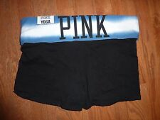 """VICTORIAS SECRET PINK YOGA """"PINK"""" FOLD OVER SHORTIE SHORTS NWT"""
