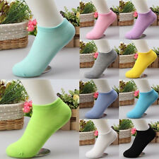 10 Pairs Casual Candy Color Women Short Ankle Boat Low Cut Sport Socks Crew New 