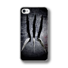 WOLVERINE CLAWS METAL X-MEN Rubber Phone Case Cover FITS IPHONE 4 5 6 7
