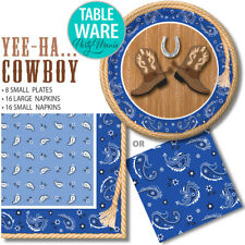 COWBOY WESTERN FARM ANIMAL BIRTHDAY PARTY SUPPLIES DECORATIONS NAPKINS PLATES