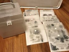 LOT 11 Close to my heart STAMP SETS  and CTMH case --acrylix
