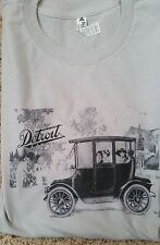 New Men's Silver White Model 42 Detroit Electric Car Vintage Tee T Shirt L XL 2X