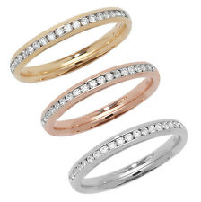 Platinum, 18ct/9ct Carat White/Yellow/Rose Gold Diamond Wedding Band/Ring