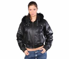 Wilda Short Lamb Leather Jacket with Fox Fur Trimming